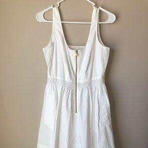 J. Crew Poplin Zip-front A-line Dress